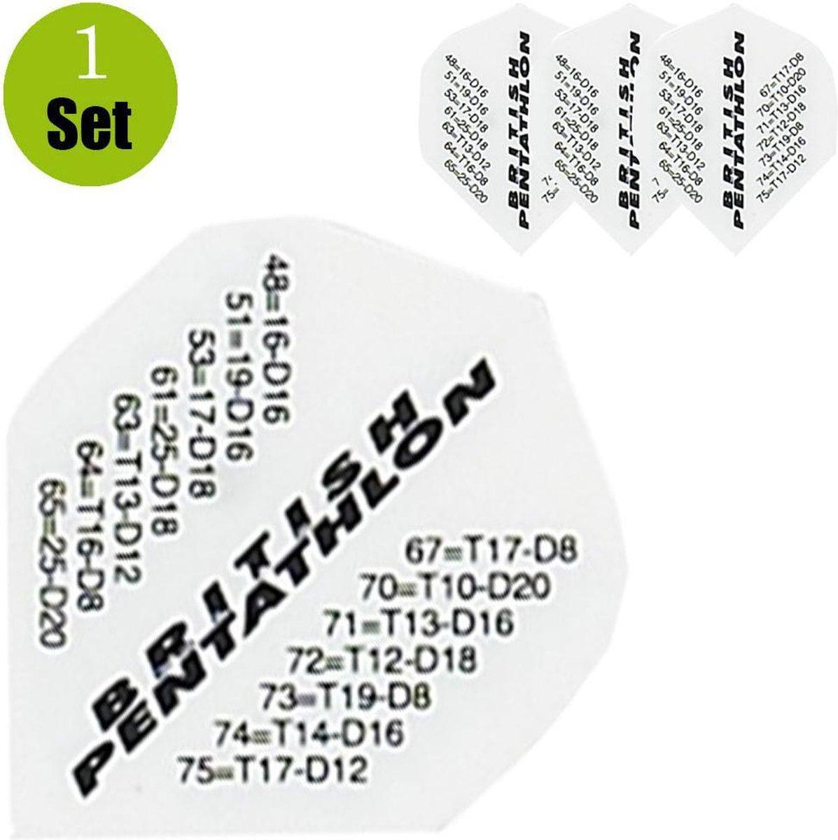 Pentathlon Finish Dartflights - Wit- ()