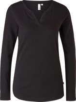 Q/S Designed by T shirt Longsleeve - Zwart - Katoen/Modal - Maat XL