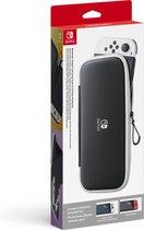 Nintendo Switch & Nintendo Switch OLED Beschermhoes met screen protectors - Zwart/Wit