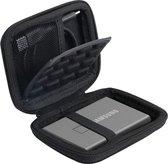Best4u Schokbestendige tas case voor Samsung T7 Touch/ T7 Portable SSD 500GB 1TB 2TB. (voor 1 SSD, met schokbestendige laag)