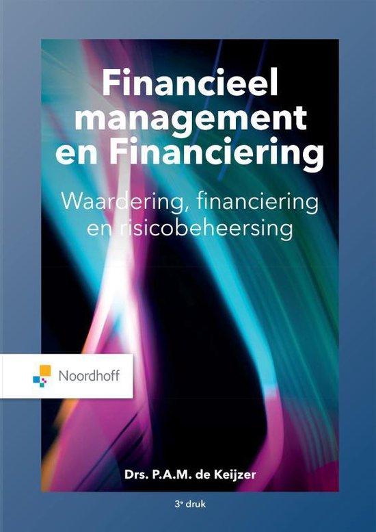 Boek cover Financieel management en financiering van P. de Keijzer (Paperback)