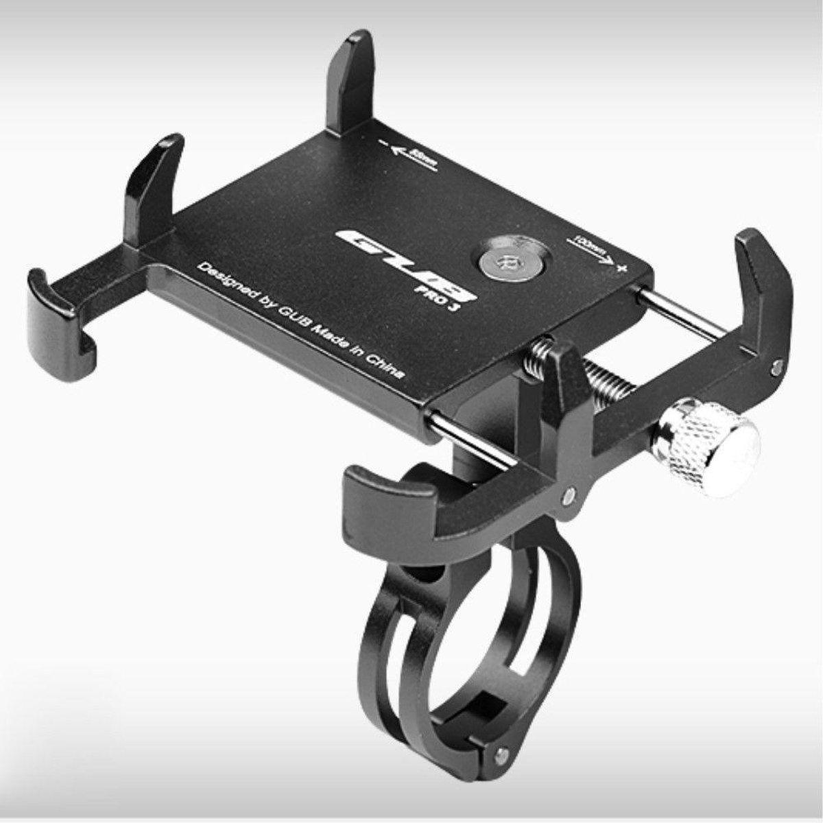 GUB Pro 3 Universele Fiets/Motor Telefoonhouder voor Smartphones Zwart