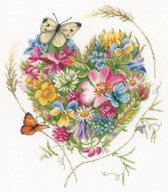 Marjolein Bastin Bloemenhartje borduren (pakket)