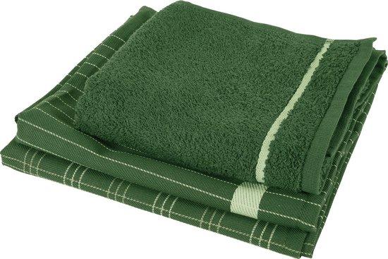 Twentse Damast 3PACK Keukentextiel Mix&Match - Jungle Green
