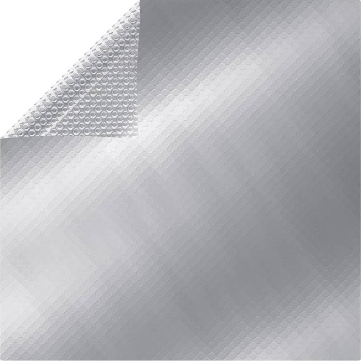vidaXL Zwembadhoes rechthoekig 600x400 cm PE zilverkleurig