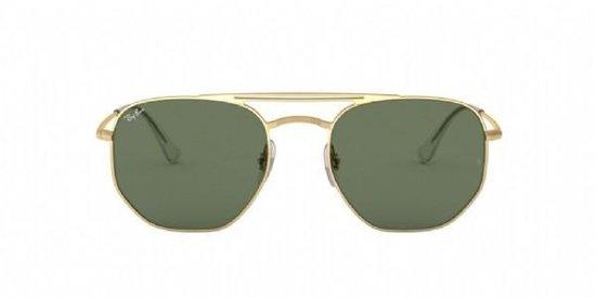Sportbrillenshop - Ray-Ban Highstreet Gold Metal/ Green Classic G15 Maat: Medium (54) - Zonnebril -  - RB3609 914071