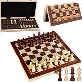 Luxe schaakbord met schaakstukken - Schaakset - Schaakspel - Magnetisch - Opklapbaar - 29 x 29 cm