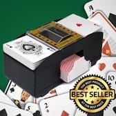 Decopatent® Automatische kaartenschudmachine voor speelkaarten - Kaartenschudder op batterijen - Poker - Blackjack - Card Shuffer