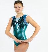 Sparkle&Dream Turnpakje / Gympakje Pleun Turquoise - AXL | maat M - voor turnen en gymnastiek