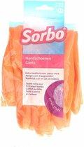 Sorbo Huishoudhandschoen - Maat M - Oranje - 1 paar