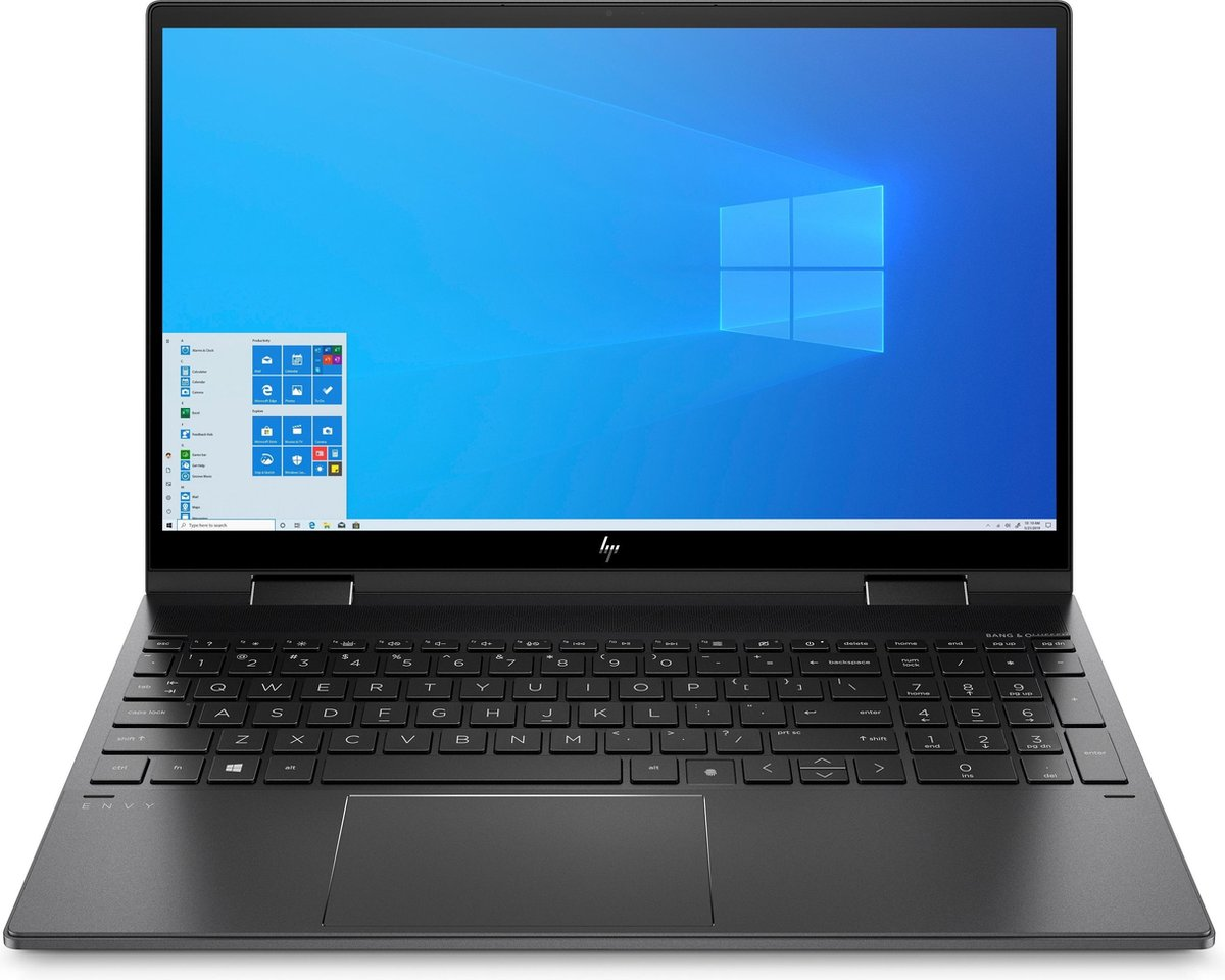 "HP ENVY x360 15-ee0501nd DDR4-SDRAM Hybride (2-in-1) 39,6 cm (15.6"") 1920 x 1080 Pixels Touchscreen AMD Ryzen 5 8 GB 512 GB SSD Wi-Fi 5 (802.11ac) Windows 10 Home Zwart"