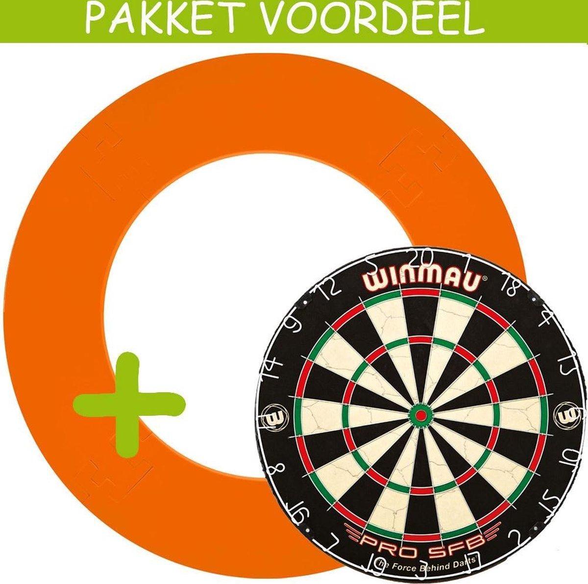 Dartbord Surround VoordeelPakket - Pro SFB - EVA Surround-- (Oranje)