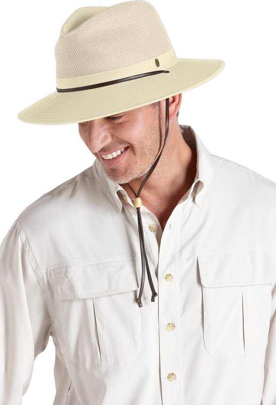 Coolibar UV hoed Heren Fedora - Beige - Maat S/M