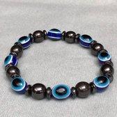 Wellness-House   Armband Beschermend Oog Hematiet   Zen Armband   Hematiet   Zen Sieraden   Nazar   Zen Cadeau