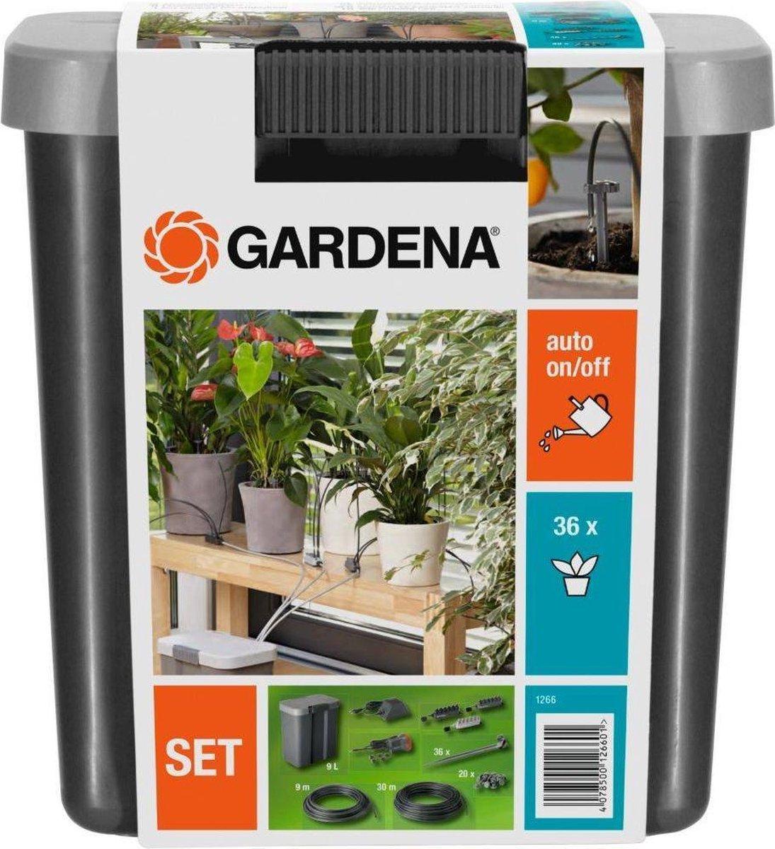 GARDENA Vakantiebewateringsset Duppelsysteem - Geschikt Voor 36 Potplanten - Incl. 9l Vat