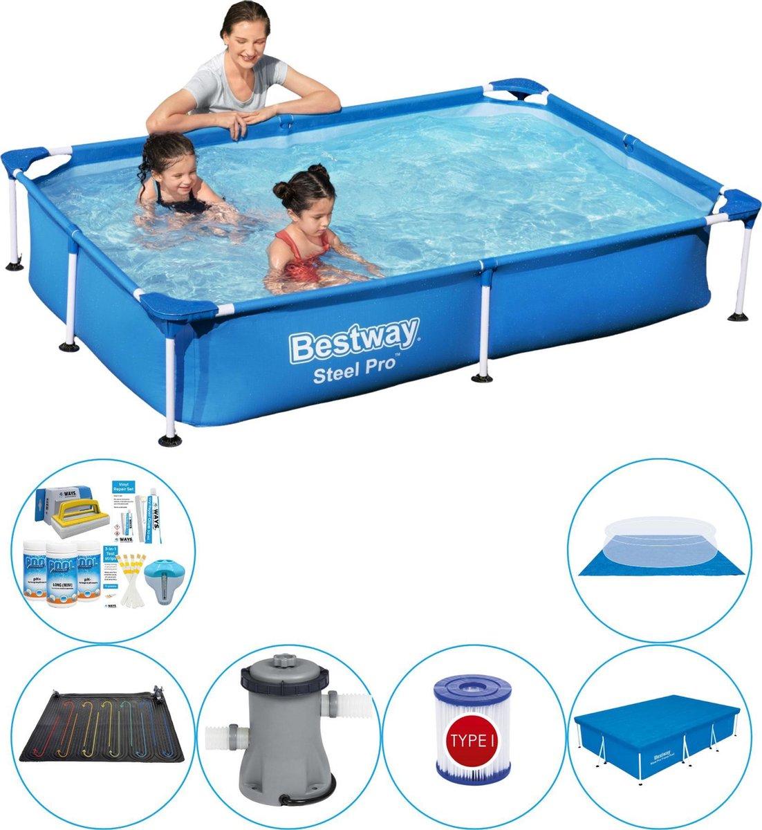 Bestway zwembad - Frame Pool - Super Deal - 220 x 150 x 43 cm - blauw