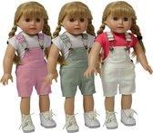 Doll Overalls Set of 3 - Set van 3 Tuinbroeken voor 46cm Pop