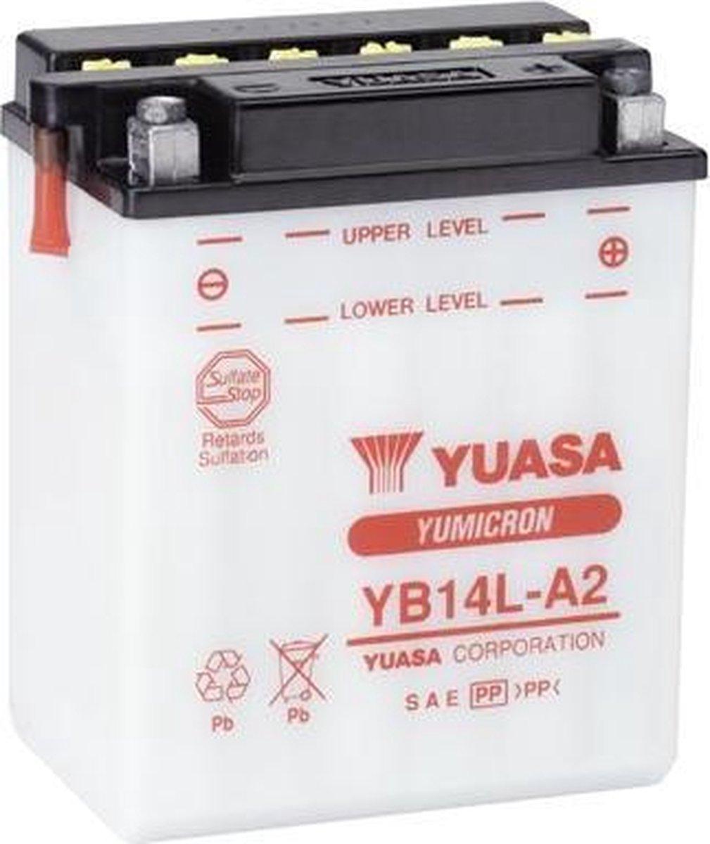 Yuasa Yb14L-A2 Accu 12V 14Ah 134X89X166X166 (Excl. 0,9L Accuzuur)