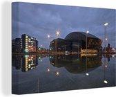 Uitzicht op het Wales Millennium Centre in Cardiff Canvas 140x90 cm - Foto print op Canvas schilderij (Wanddecoratie woonkamer / slaapkamer) / Europese steden Canvas Schilderijen