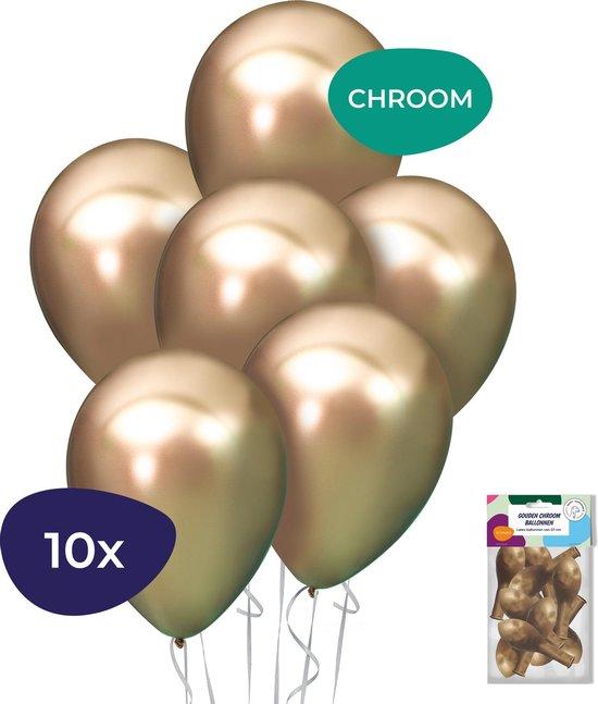 Gouden Ballonnen - Chrome Ballonnen - Helium Ballonnen - Verjaardag Versiering - 10 stuks