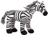 Clayre & Eef Deurstopper Zebra 37*13*30 cm Zwart, Wit Polyester Deurklem Deurwig