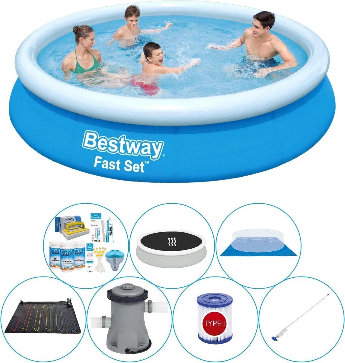 Bestway Fast Set Rond 366x76 cm - Zwembad Comfort Pakket