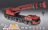 Mobiele Telekraan Hijskraan Kraan Rood Technic Bouwpakket  - 4460 Bouwstenen - Toy Brick Lighting