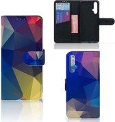 Bookcase Huawei Nova 5T   Honor 20 Polygon Dark