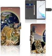 Samsung Galaxy Note 10 Telefoonhoesje met Pasjes Roofdieren