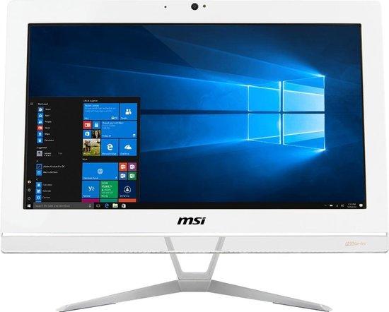 MSI Pro 20EX 8GL-001XEU 49,5 cm (19.5'') 1600 x 900 Pixels Intel® Celeron® 4 GB DDR4-SDRAM 1000 GB HDD Wi-Fi 5 (802.11ac) Wit Alles-in-één-pc