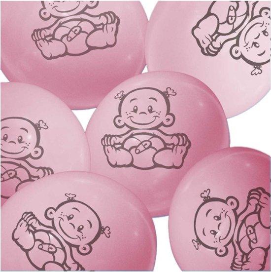 Ballonnen-Baby-Lichtroze-6 stuks