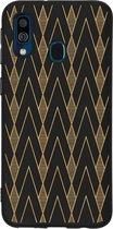 Design Backcover Color Samsung Galaxy A40 hoesje - Graphic Deco