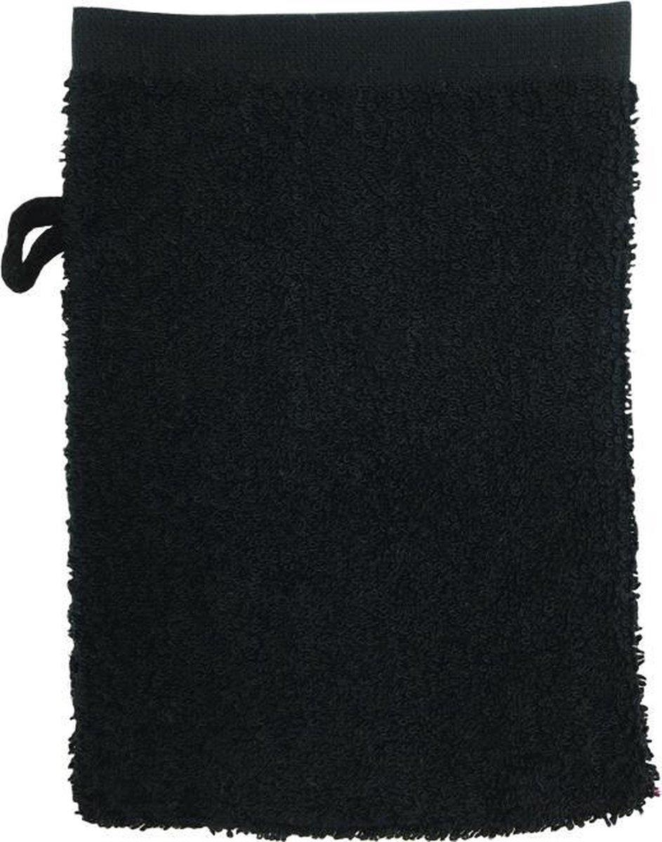The One Voordeel Washandjes Zwart 10 stuks