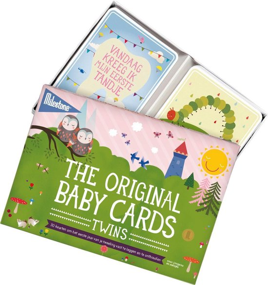 Milestone™ Baby photo cards twins original