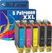 Tito-Express PlatinumSerie 5x Epson 29 XL T2991-T2994 inktcartridge patroon alternatief voor Epson 29XL T2991-T2994 zwart cyan magenta geel