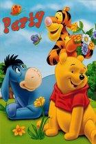 Uitnodigingen Winnie de Pooh, Tijgertje & Eyor Oranje
