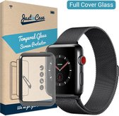 Just in Case Full Cover Tempered Glass Apple Watch 38mm Protector - Black