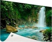 Rio Celeste waterval Tuinposter 200x100 cm - Tuindoek / Buitencanvas / Schilderijen voor buiten (tuin decoratie) XXL / Groot formaat!