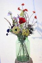 Zijden Boeket - Diverse bloemen - 60 cm hoog - Kunstbloemen