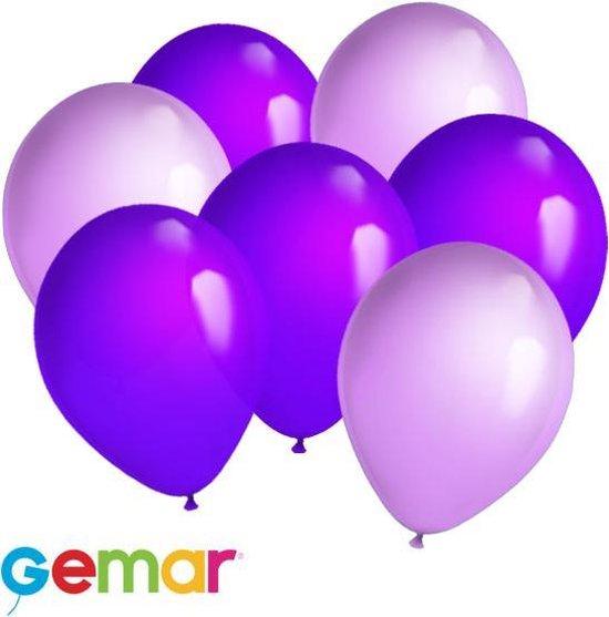 30 ballonnen Paars/Lavendel (Ook geschikt voor Helium)