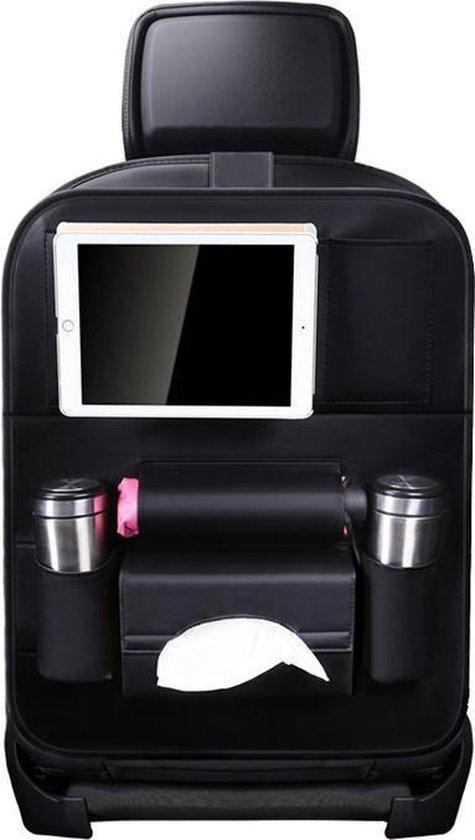 Afbeelding van Luxe Auto Organizer met Tablet Houder Autostoel Organiser Ipadhouder voor Kinderen – Zwart