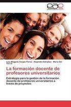 La Formacion Docente de Profesores Universitarios