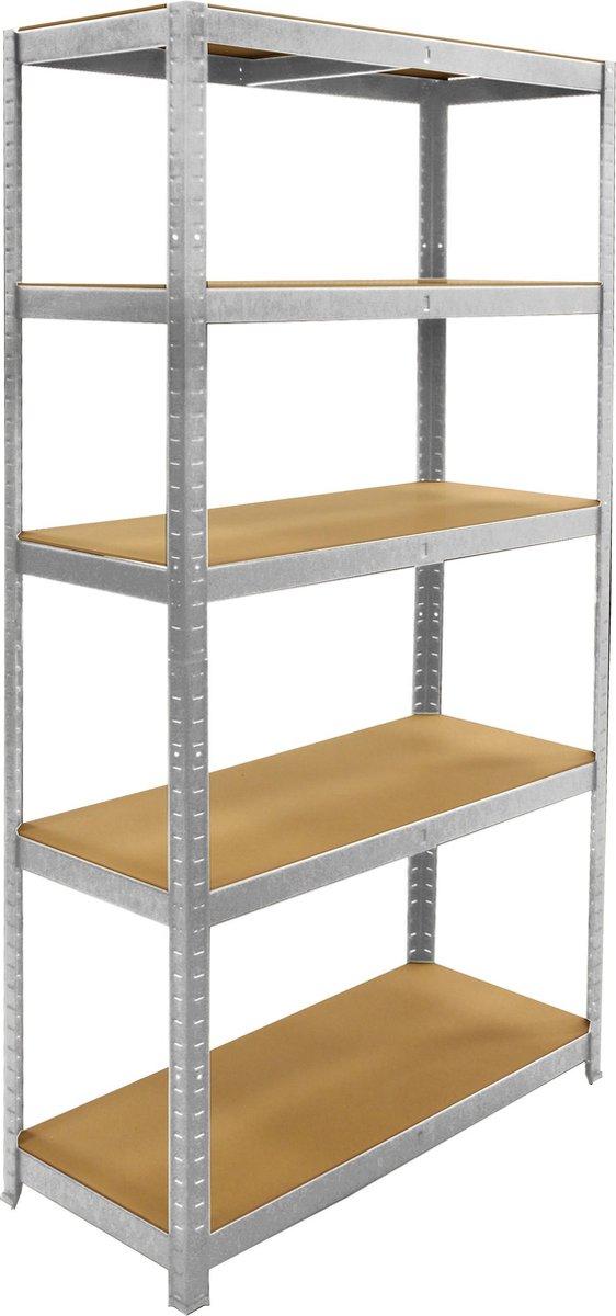 ERRO Metalen Opbergrek/Stellingkast met 5 legborden - 875kg draagkracht - (BxDxH) 90x40x180cm - 175k