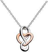 Fate Jewellery Ketting FJ481 – Infinity Heart – 925 Zilver, Rosé verguld –