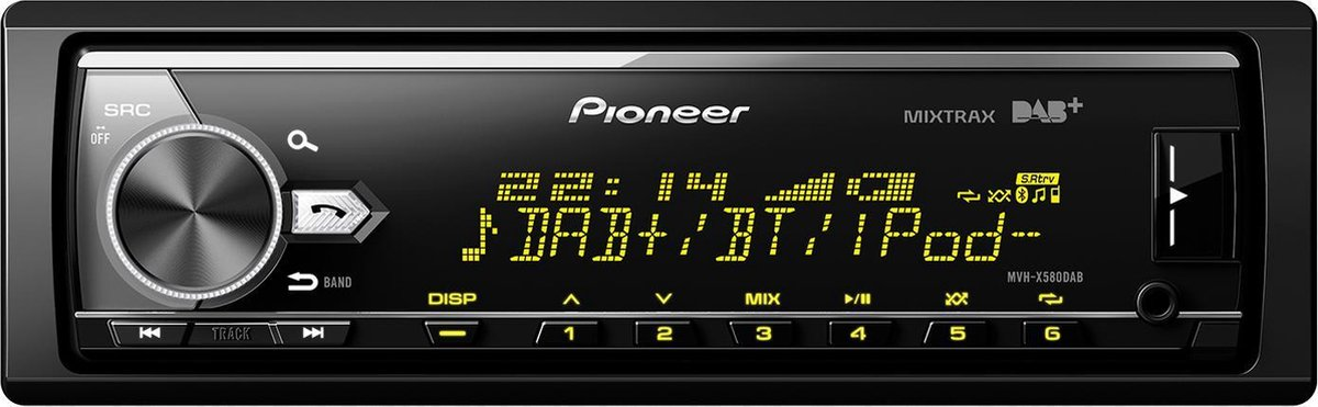 Pioneer MVH-X580DAB Autoradio Enkel din Multi colour-USB - 4 x 50 W