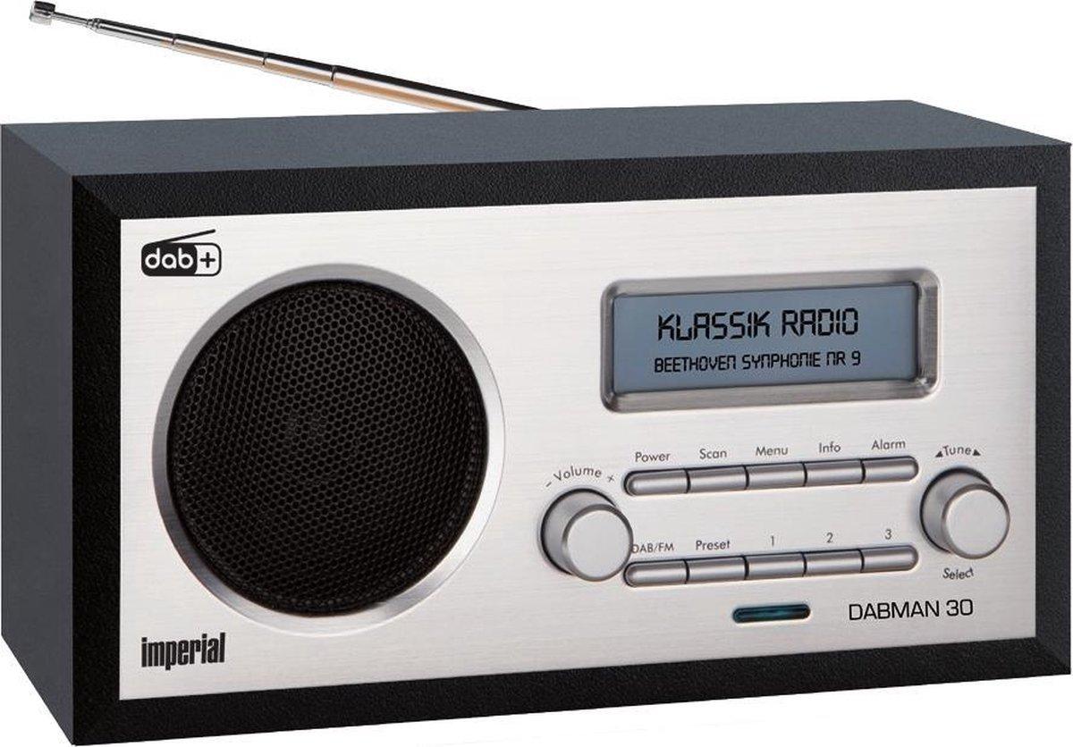 Imperial DABMAN 30 DAB+ radio, Zwart/Zilver radio