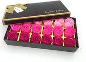18 Rozen Zeepjes Rood- Origineel Cadeau voor haar, perfect cadeau voor valentijnsdag, verjaardagen