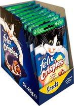 FELIX Crispies Snacks - Rund/Kip-Kattensnack - 8 x 45 g