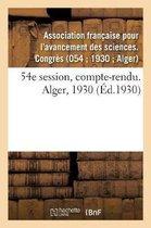 54e session, compte-rendu. Alger, 1930