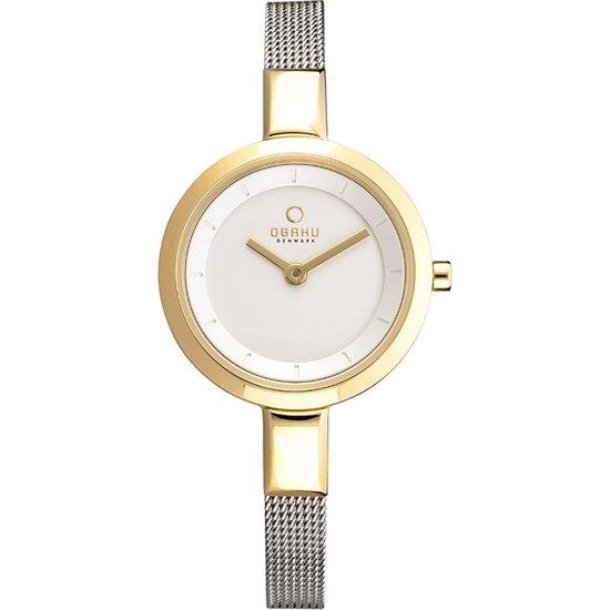 Obaku V129LX GIMC1 horloge dames – zilver – edelstaal doubl�